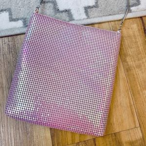NWOT Pink Iridescent Holographic Sequin Purse